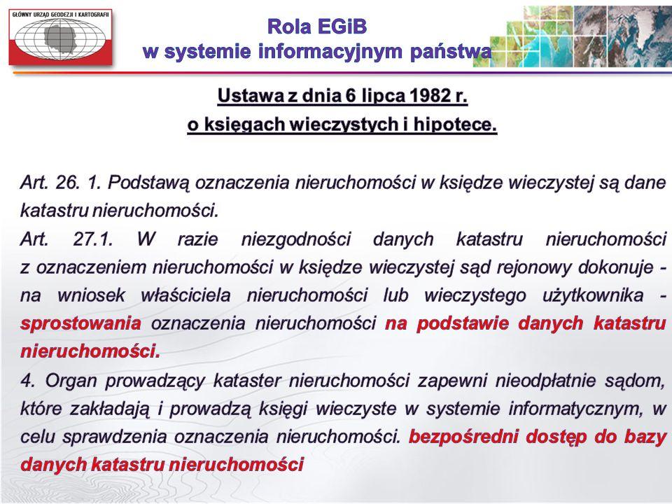 Rola EGiB w systemie informacyjnym państwa