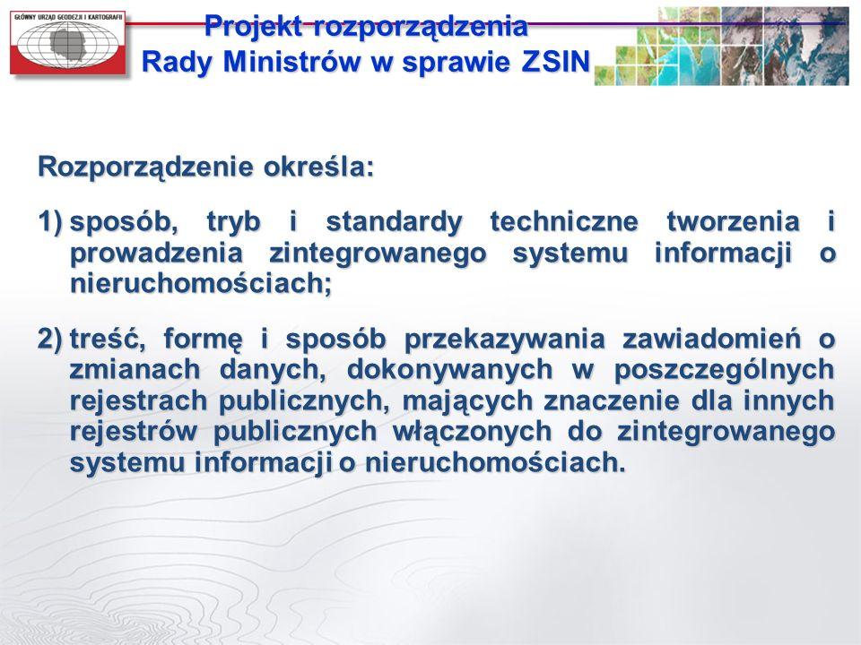 Projekt rozporządzenia Rady Ministrów w sprawie ZSIN