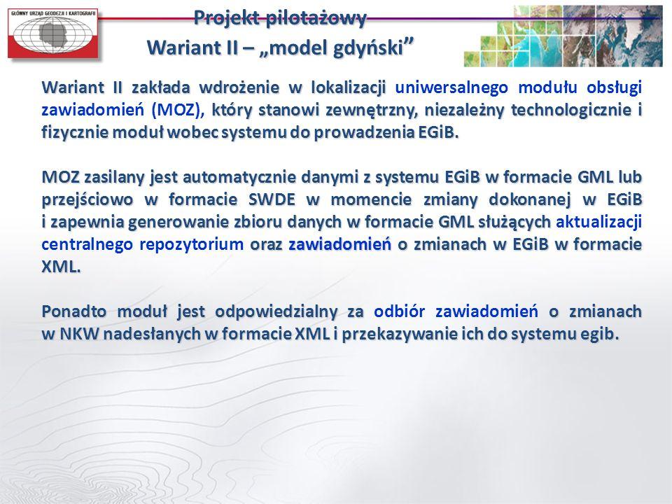 """Projekt pilotażowy Wariant II – """"model gdyński"""