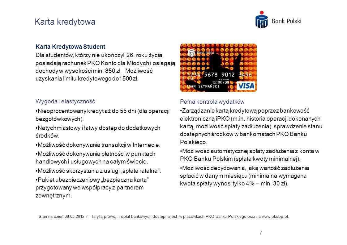 Karta kredytowa Karta Kredytowa Student