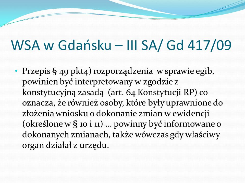 WSA w Gdańsku – III SA/ Gd 417/09