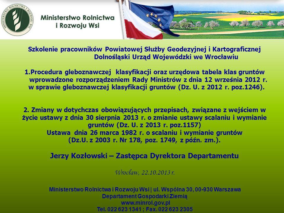 Jerzy Kozłowski – Zastępca Dyrektora Departamentu