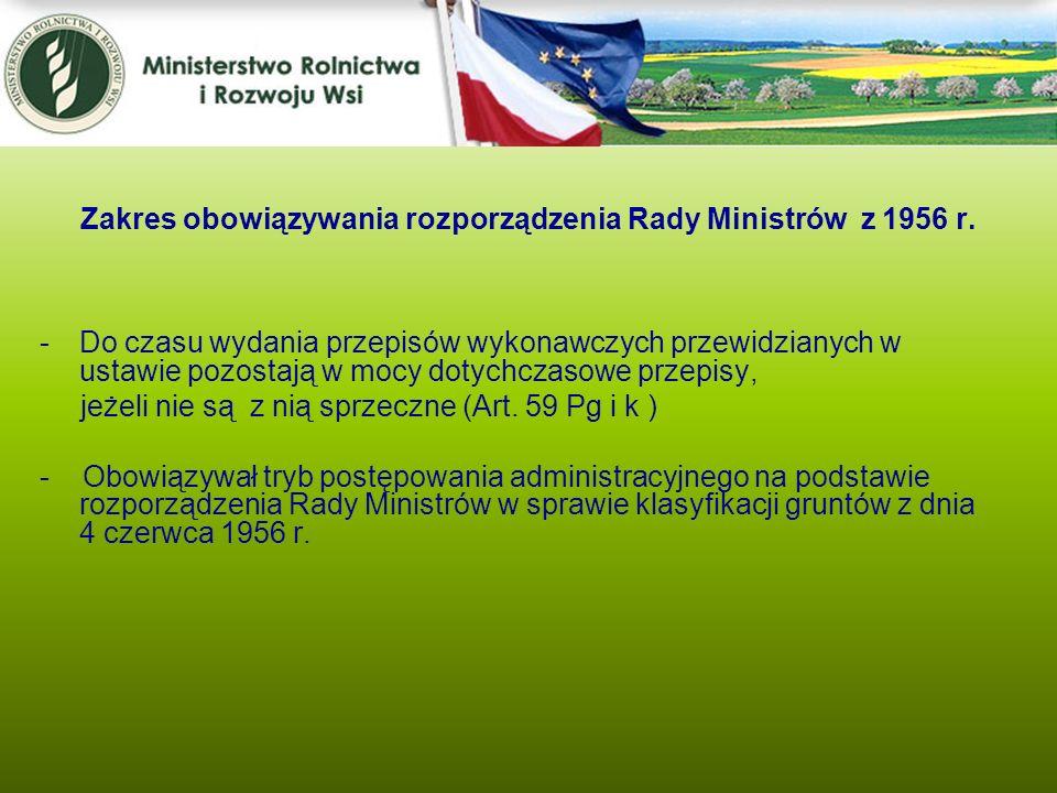Zakres obowiązywania rozporządzenia Rady Ministrów z 1956 r.