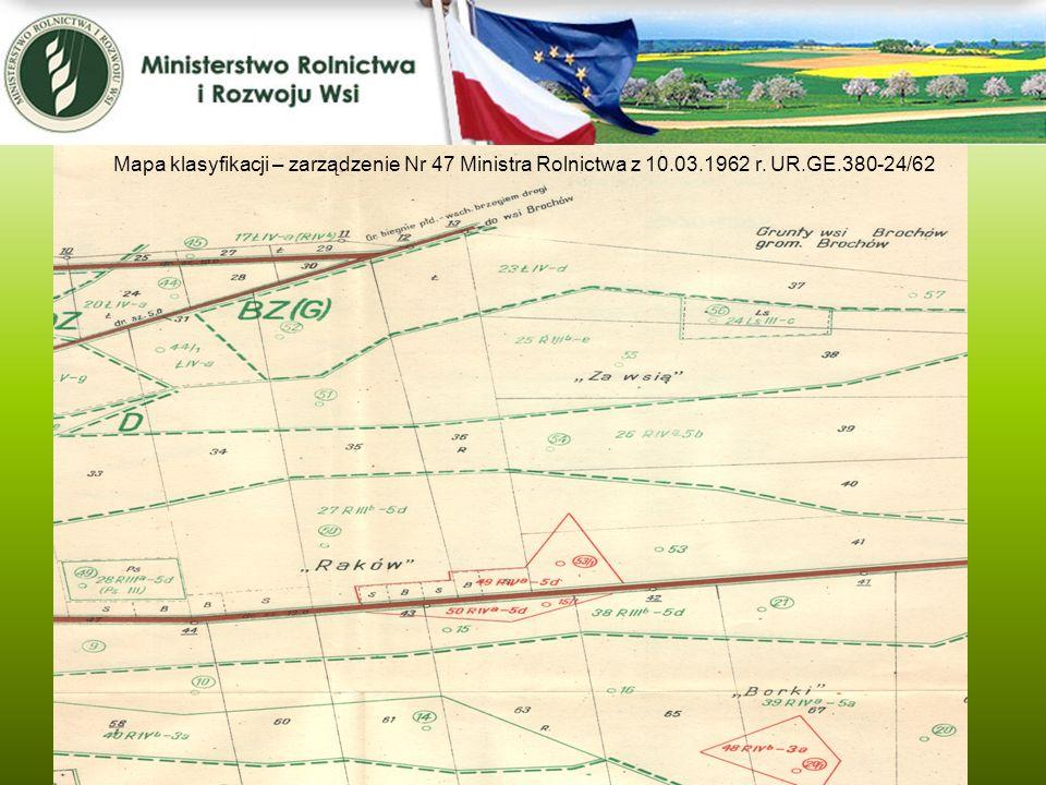 Mapa klasyfikacji – zarządzenie Nr 47 Ministra Rolnictwa z 10. 03