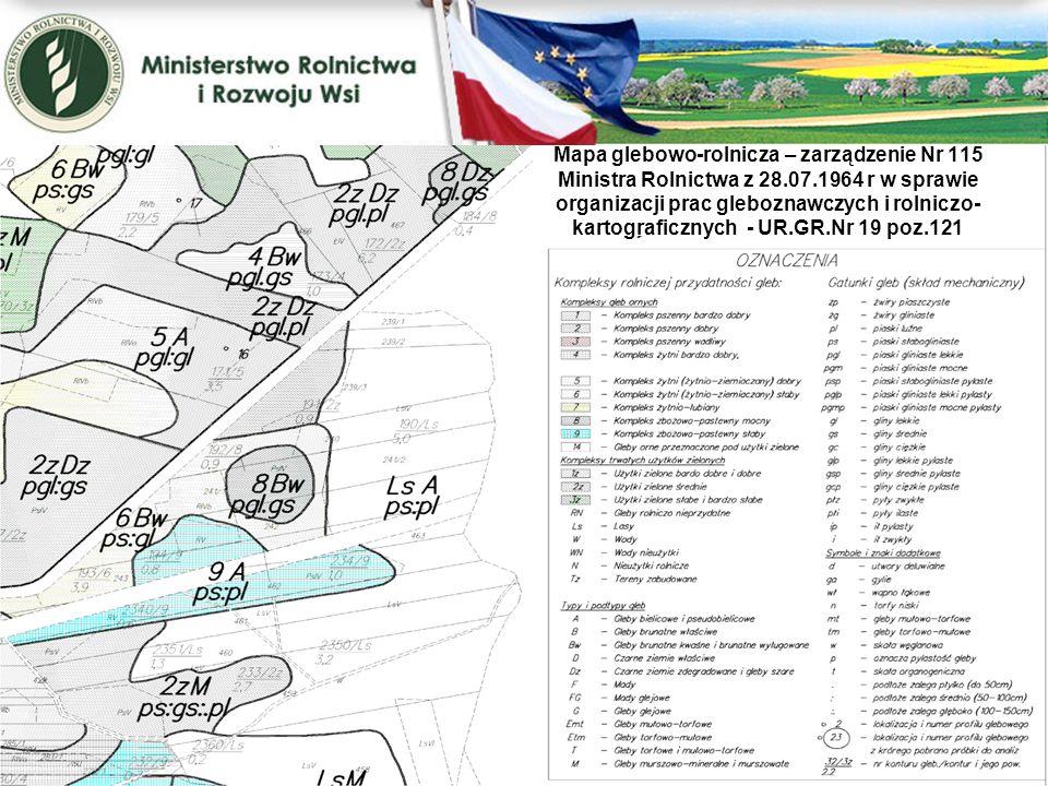 Mapa glebowo-rolnicza – zarządzenie Nr 115 Ministra Rolnictwa z 28. 07