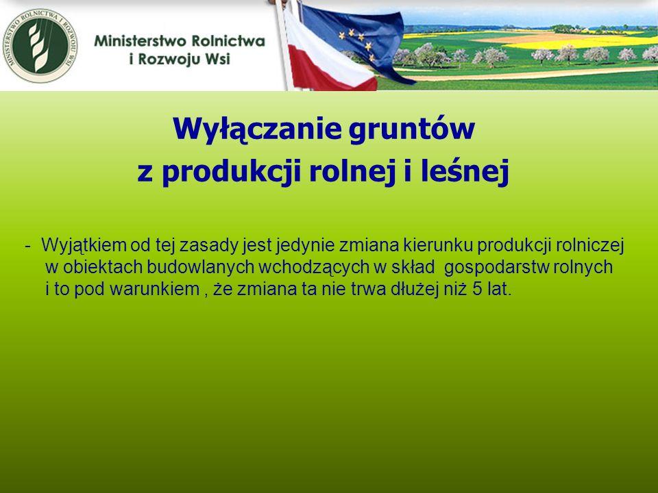 z produkcji rolnej i leśnej