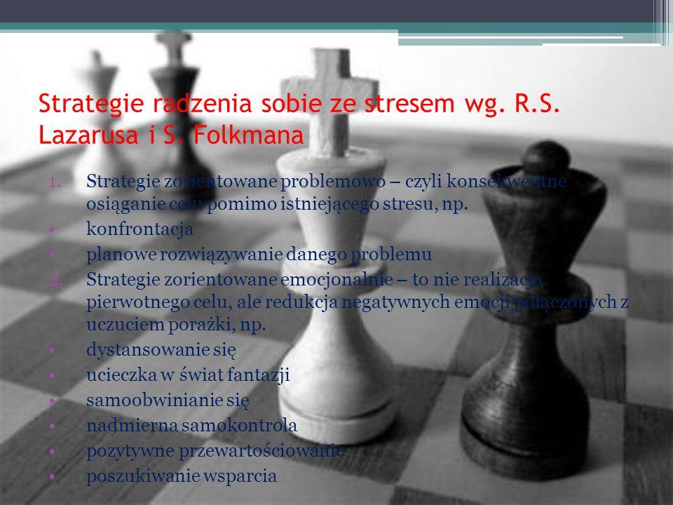Strategie radzenia sobie ze stresem wg. R.S. Lazarusa i S. Folkmana
