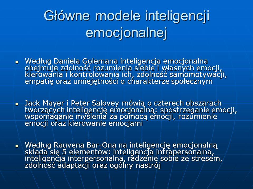 Główne modele inteligencji emocjonalnej