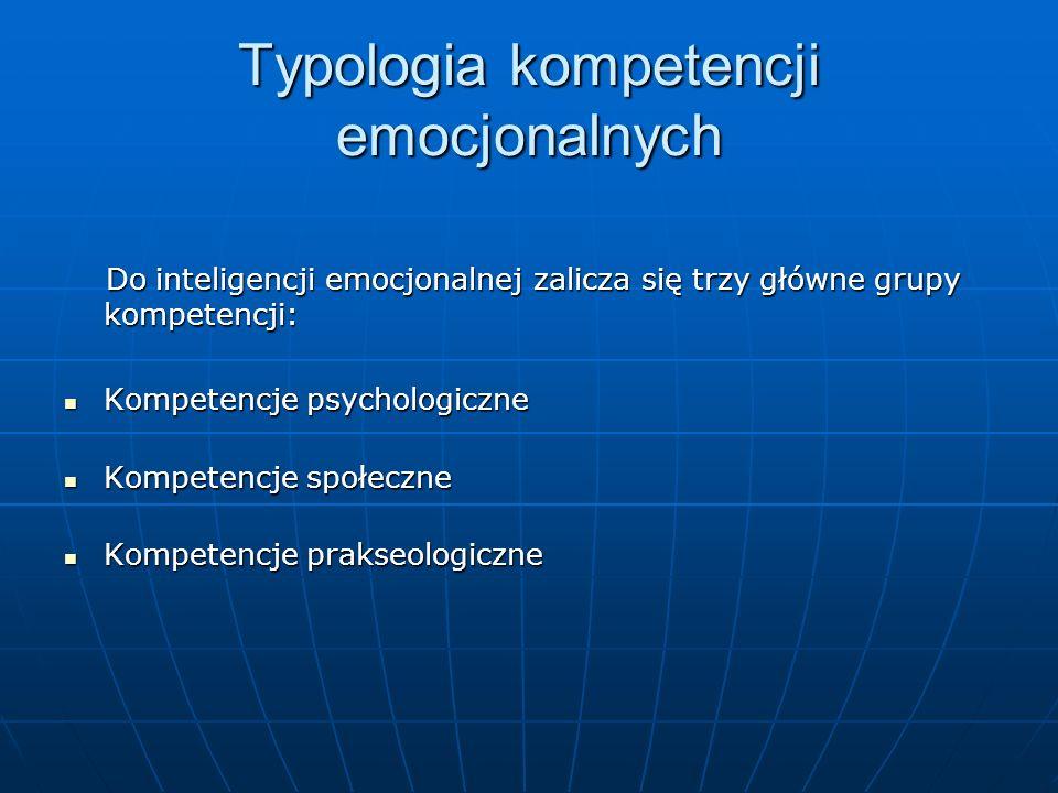 Typologia kompetencji emocjonalnych
