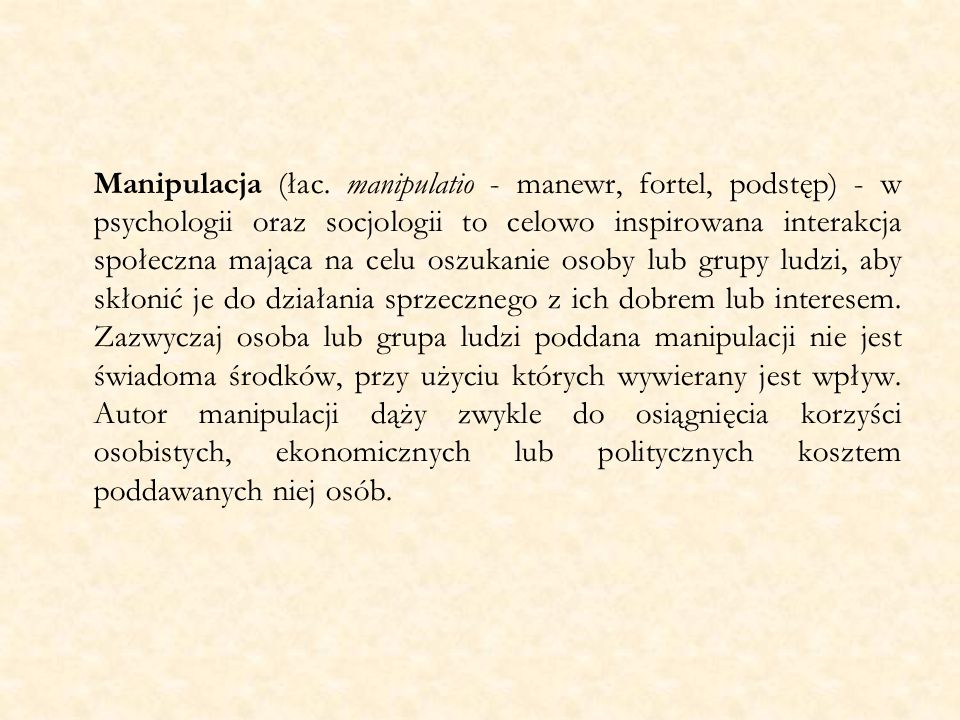 Manipulacja (łac.