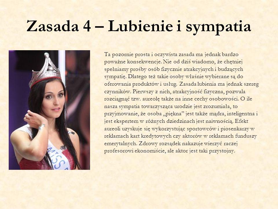 Zasada 4 – Lubienie i sympatia