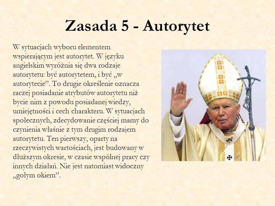 Zasada 5 - Autorytet