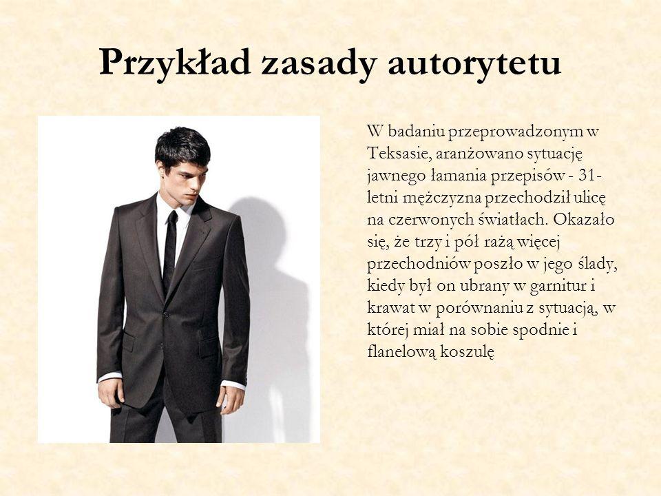 Przykład zasady autorytetu