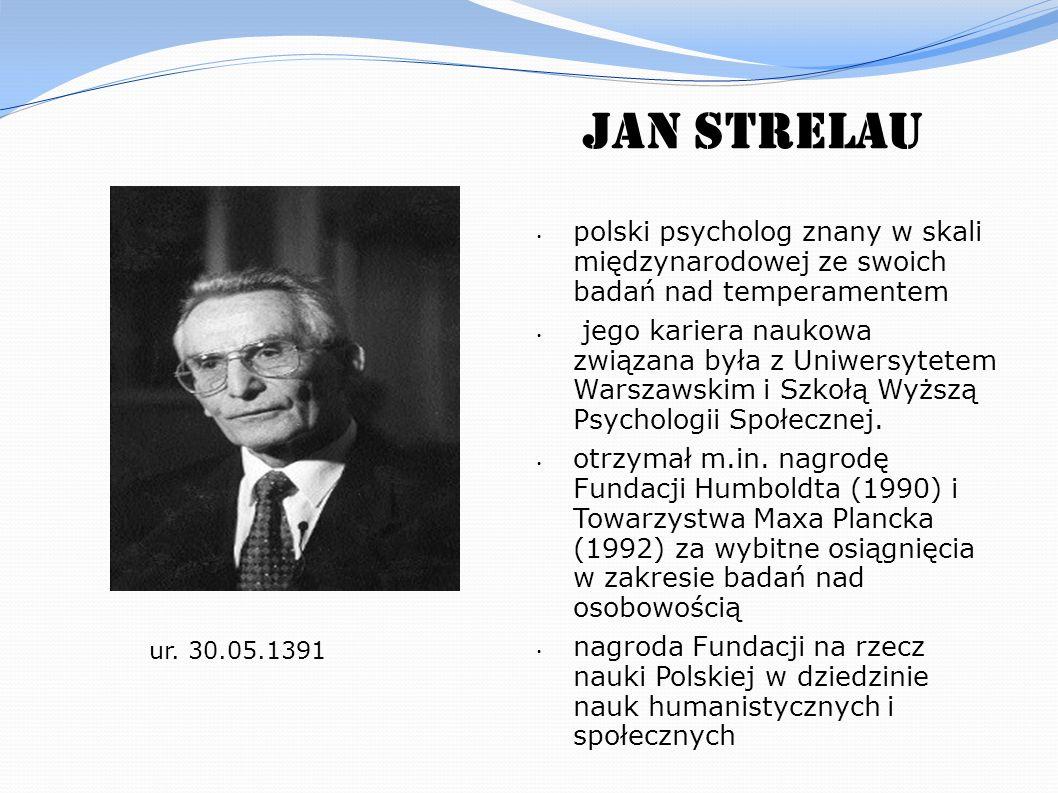 Jan Strelau polski psycholog znany w skali międzynarodowej ze swoich badań nad temperamentem.