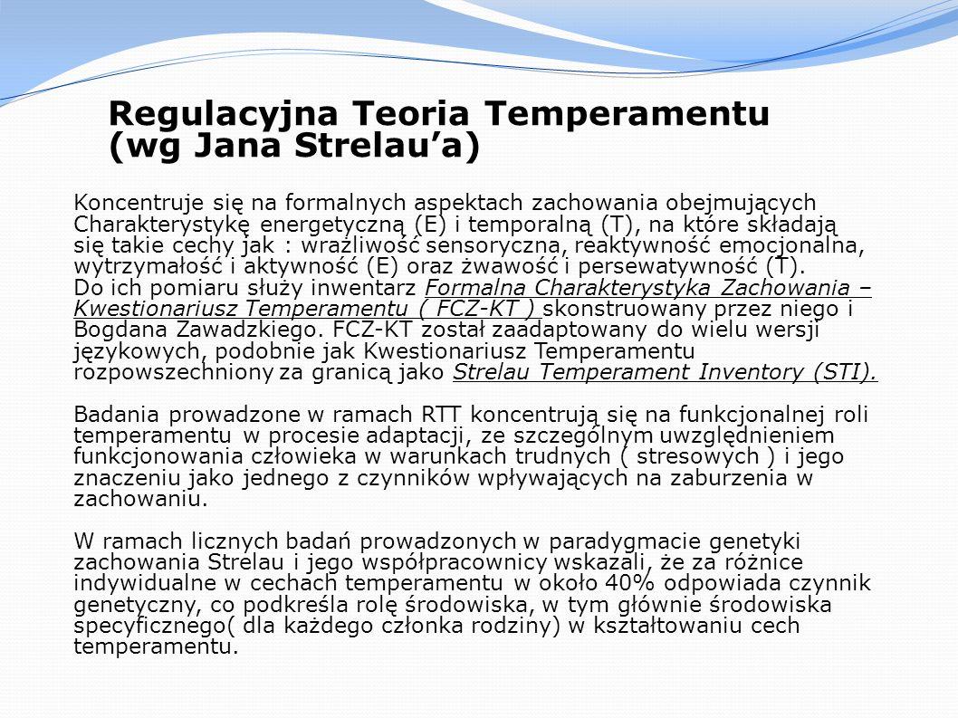 Regulacyjna Teoria Temperamentu (wg Jana Strelau'a)