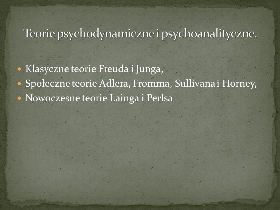 Teorie psychodynamiczne i psychoanalityczne.