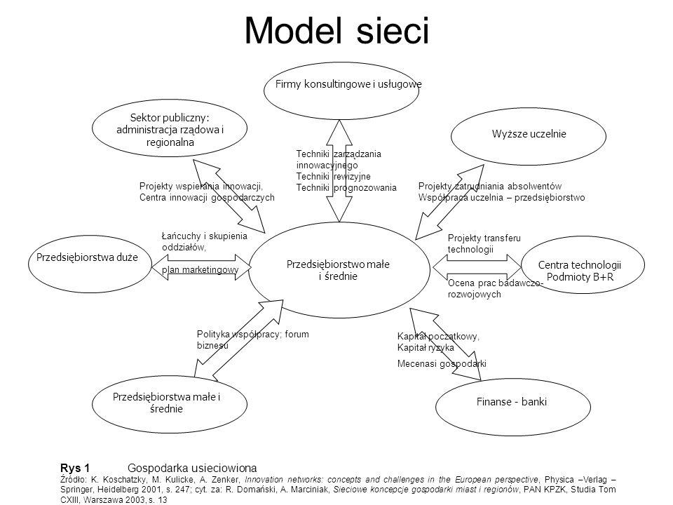 Model sieci Rys 1 Gospodarka usieciowiona