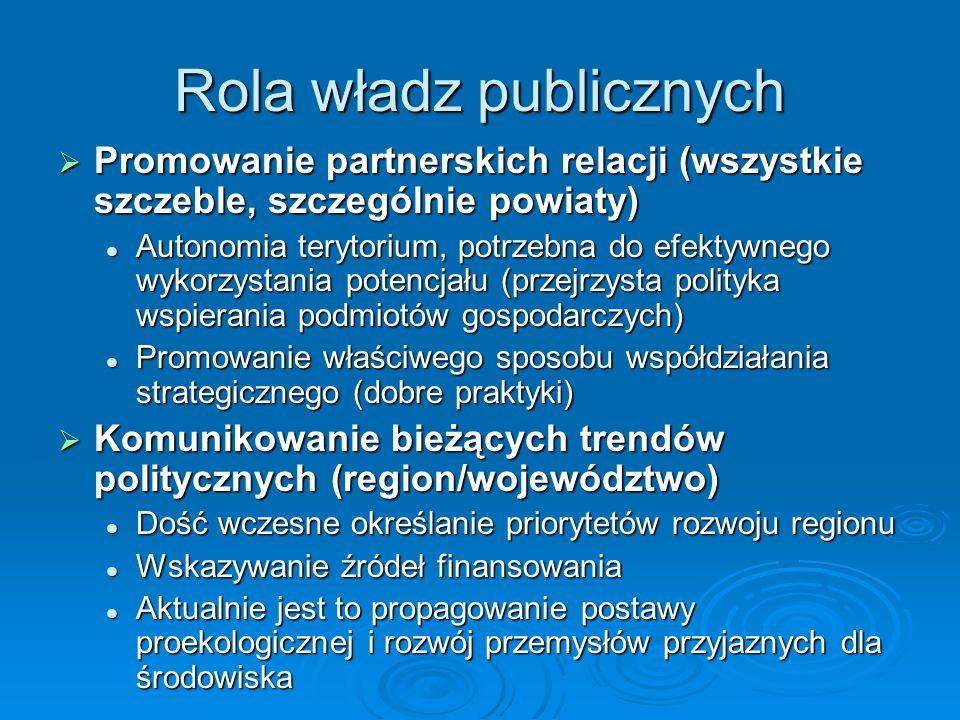 Rola władz publicznych
