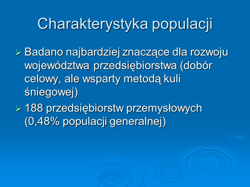 Charakterystyka populacji