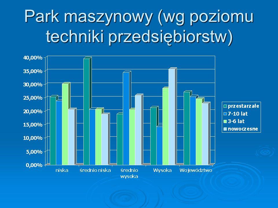 Park maszynowy (wg poziomu techniki przedsiębiorstw)