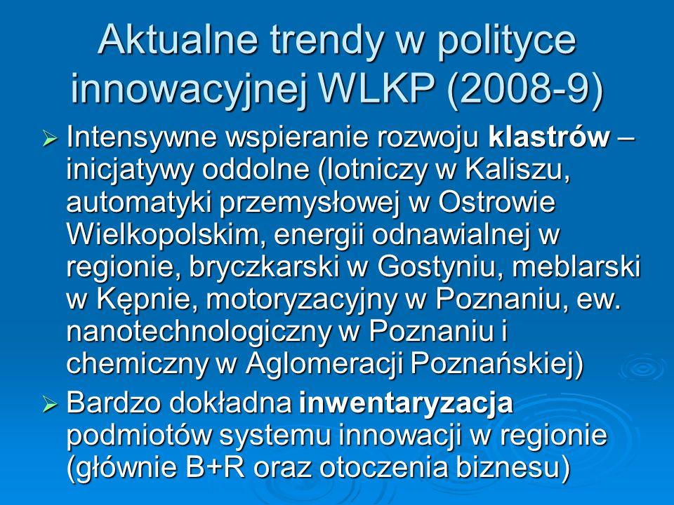 Aktualne trendy w polityce innowacyjnej WLKP (2008-9)