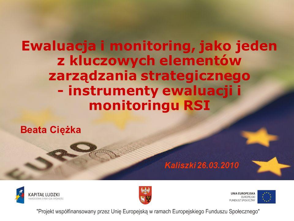 - instrumenty ewaluacji i monitoringu RSI