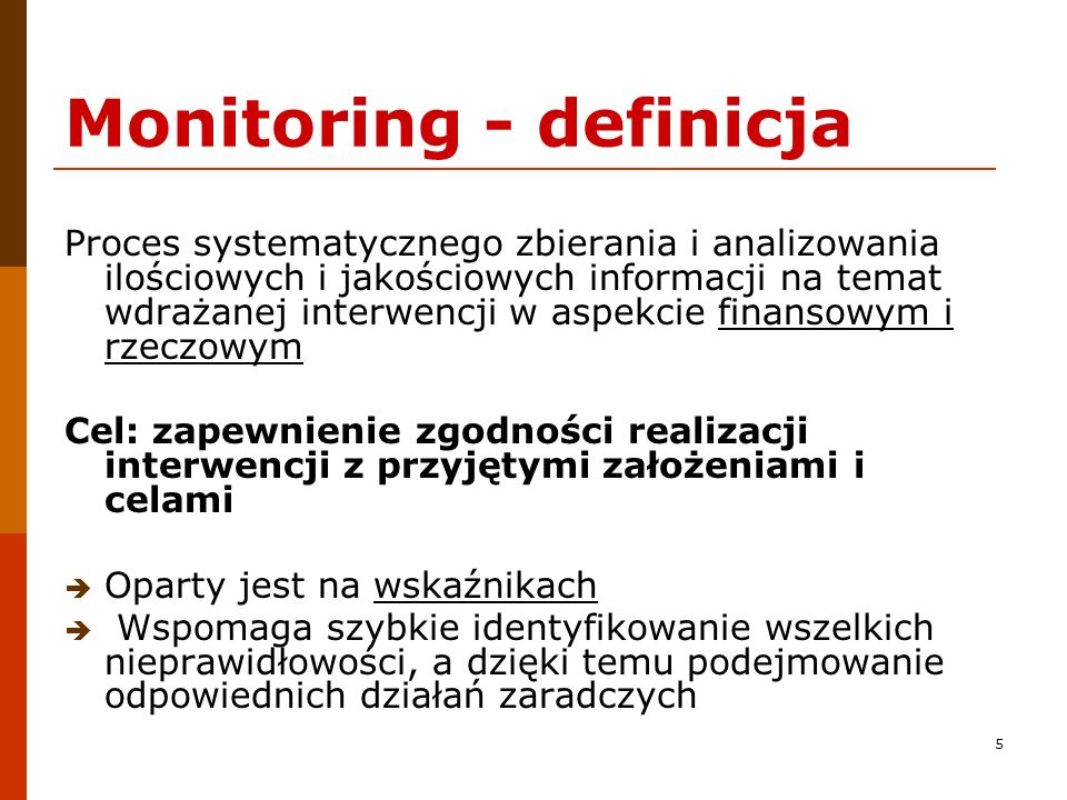 Monitoring - definicja