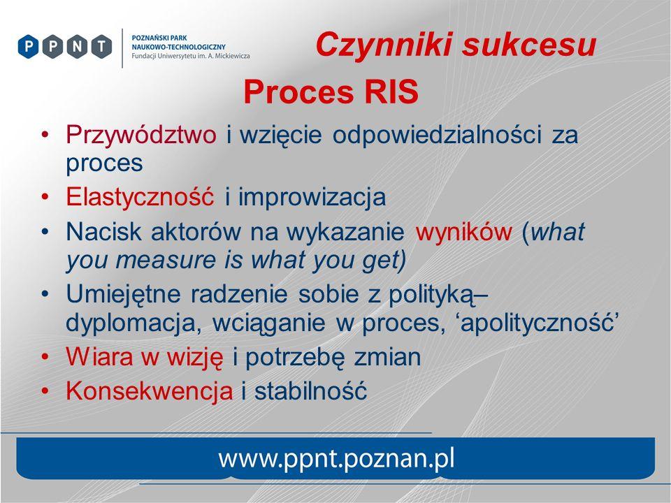 Czynniki sukcesu Proces RIS