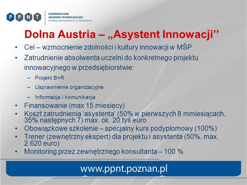 """Dolna Austria – """"Asystent Innowacji''"""