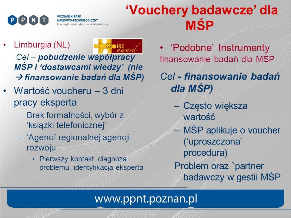 'Vouchery badawcze' dla MŚP
