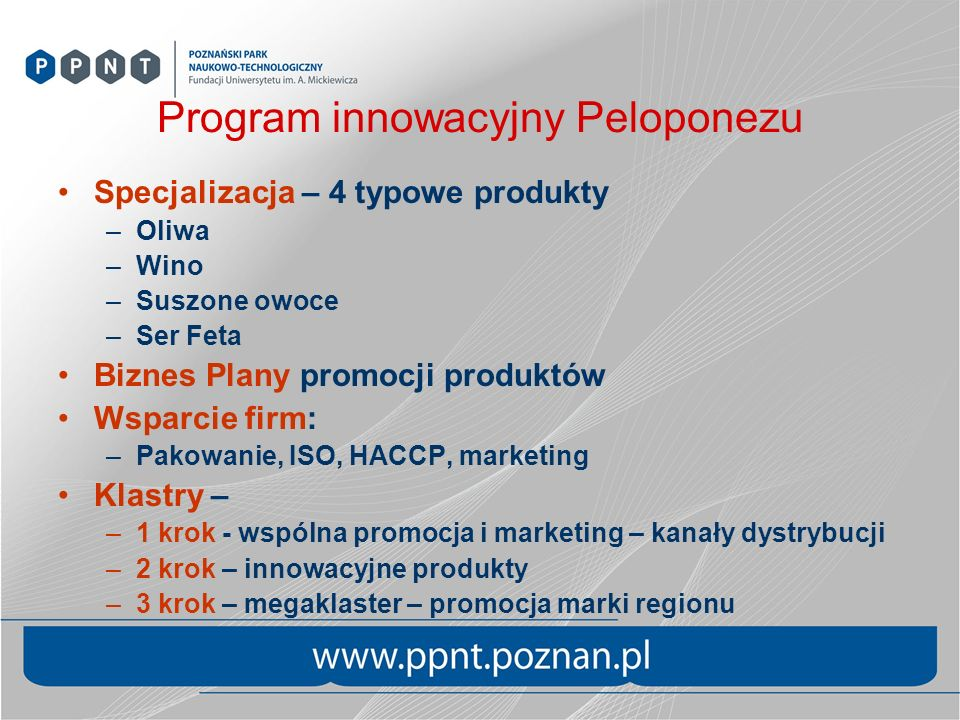 Program innowacyjny Peloponezu