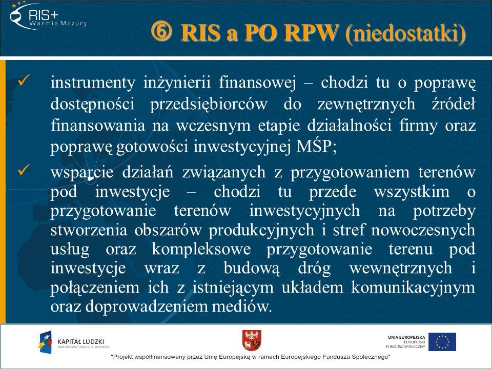 RIS a PO RPW (niedostatki)