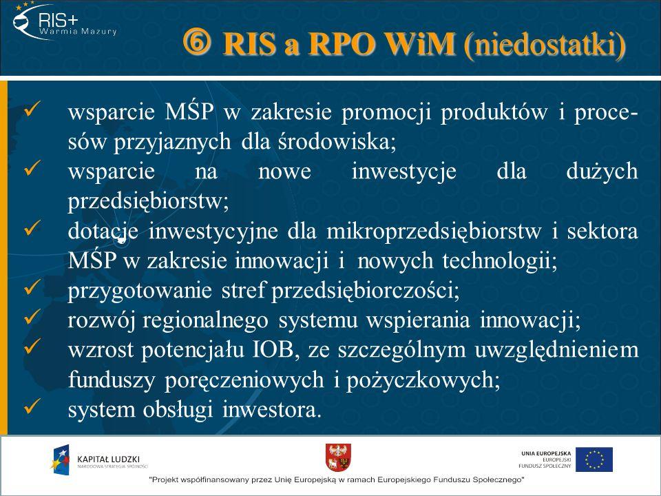  RIS a RPO WiM (niedostatki)