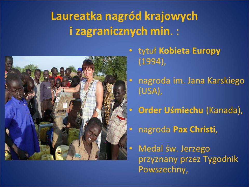 Laureatka nagród krajowych i zagranicznych min. :