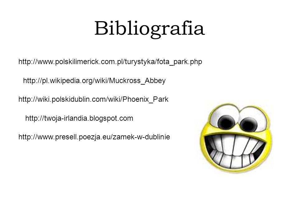 Bibliografia http://www.polskilimerick.com.pl/turystyka/fota_park.php