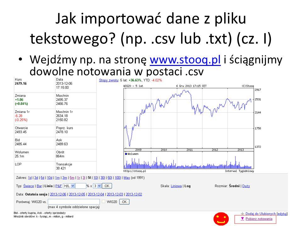 Jak importować dane z pliku tekstowego (np. .csv lub .txt) (cz. I)