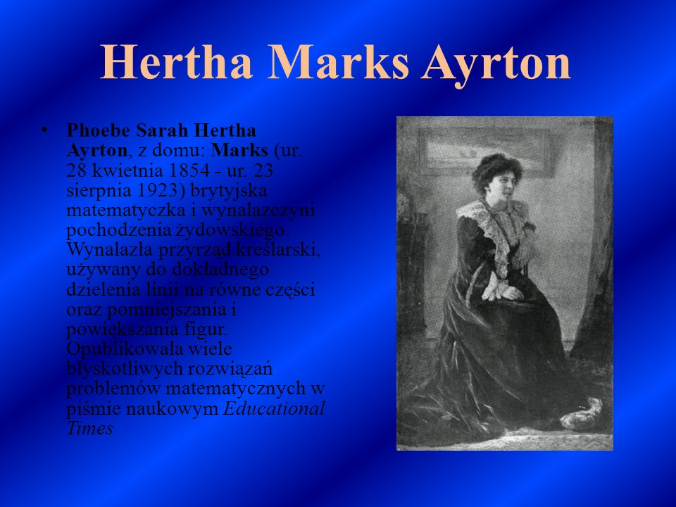 Hertha Marks Ayrton