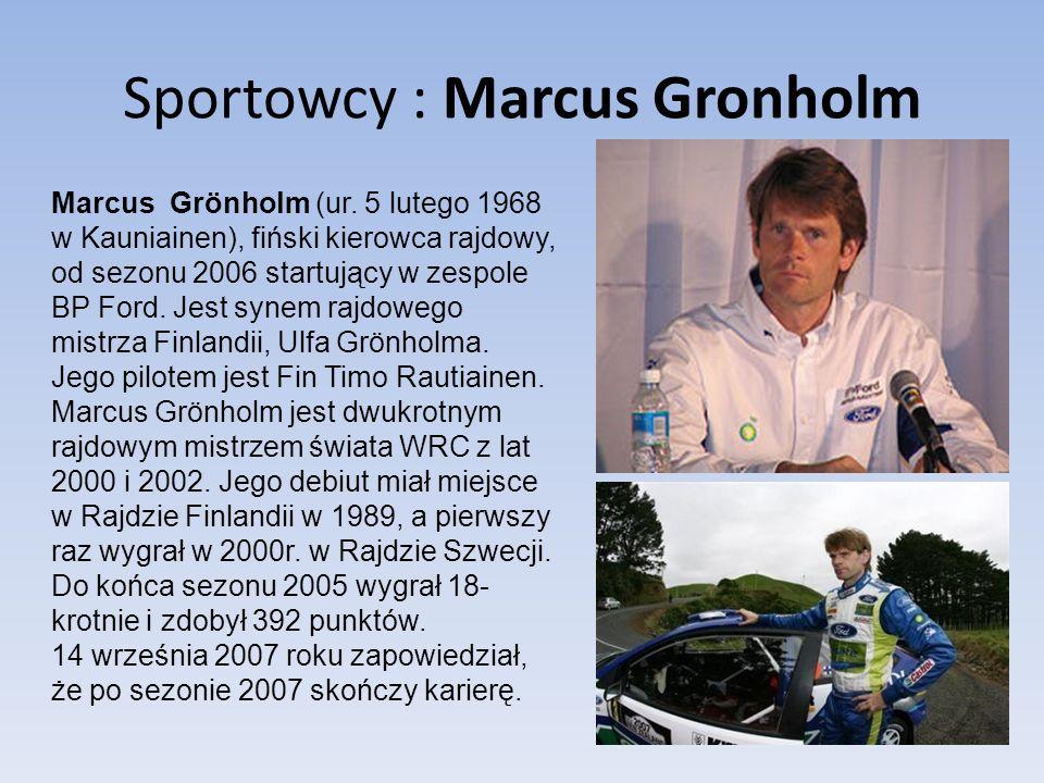 Sportowcy : Marcus Gronholm