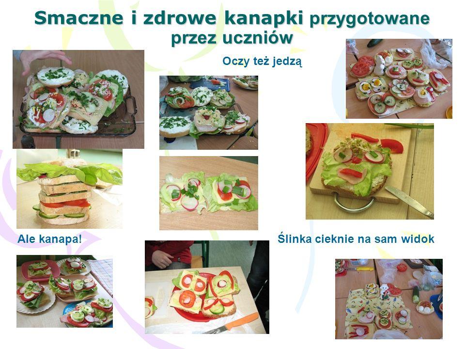 Smaczne i zdrowe kanapki przygotowane przez uczniów