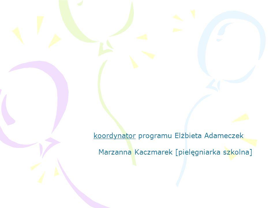koordynator programu Elżbieta Adameczek