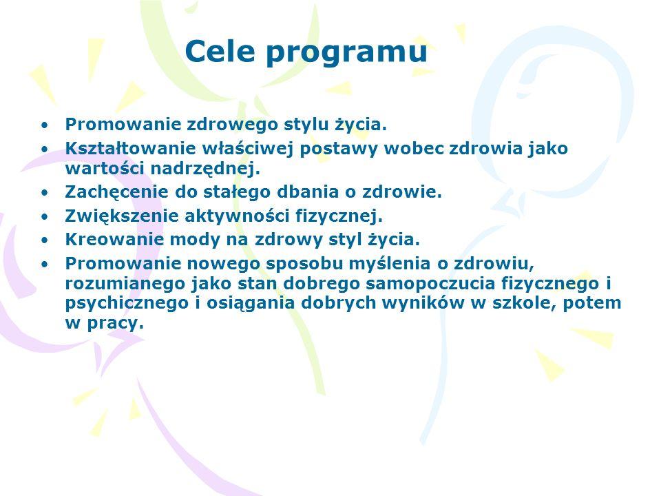 Cele programu Promowanie zdrowego stylu życia.