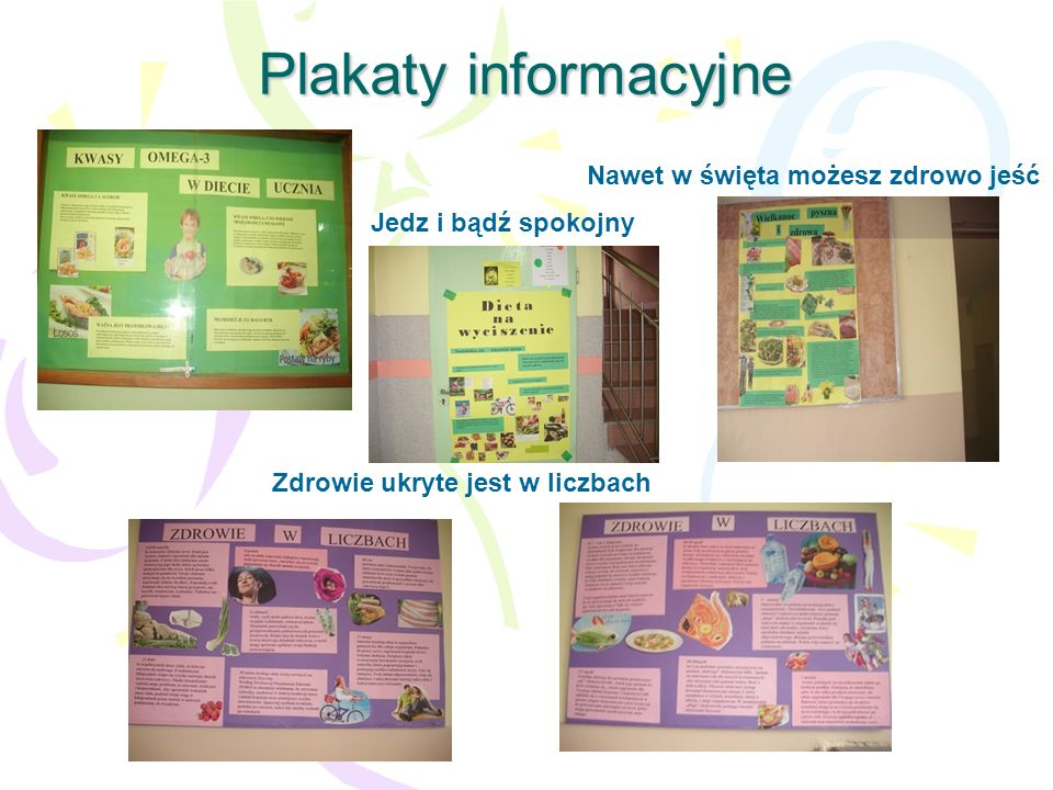 Plakaty informacyjne Nawet w święta możesz zdrowo jeść