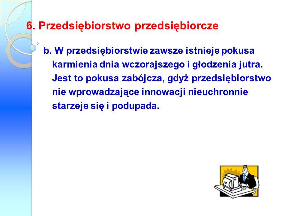 6. Przedsiębiorstwo przedsiębiorcze