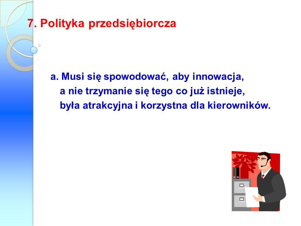 7. Polityka przedsiębiorcza