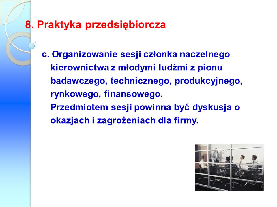 8. Praktyka przedsiębiorcza