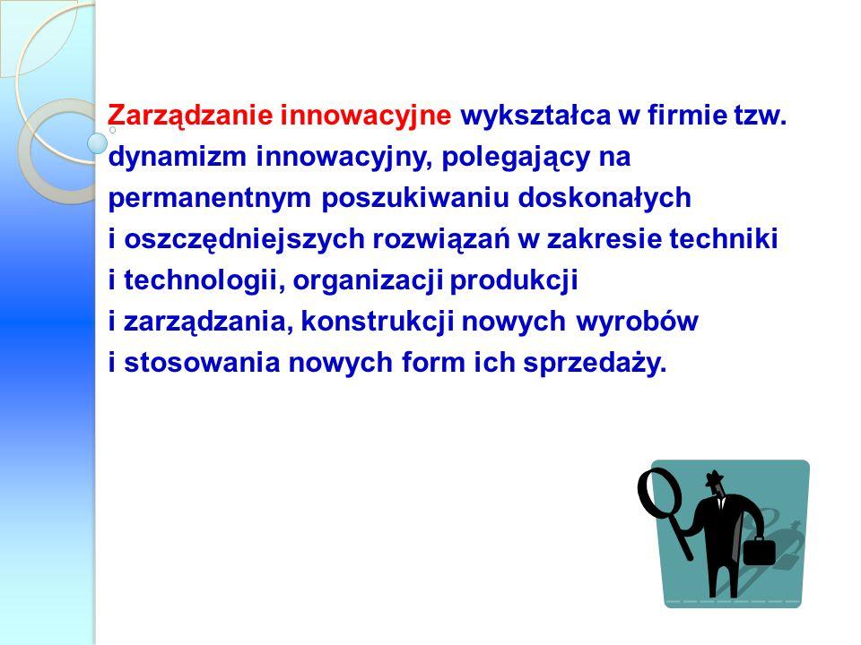 Zarządzanie innowacyjne wykształca w firmie tzw