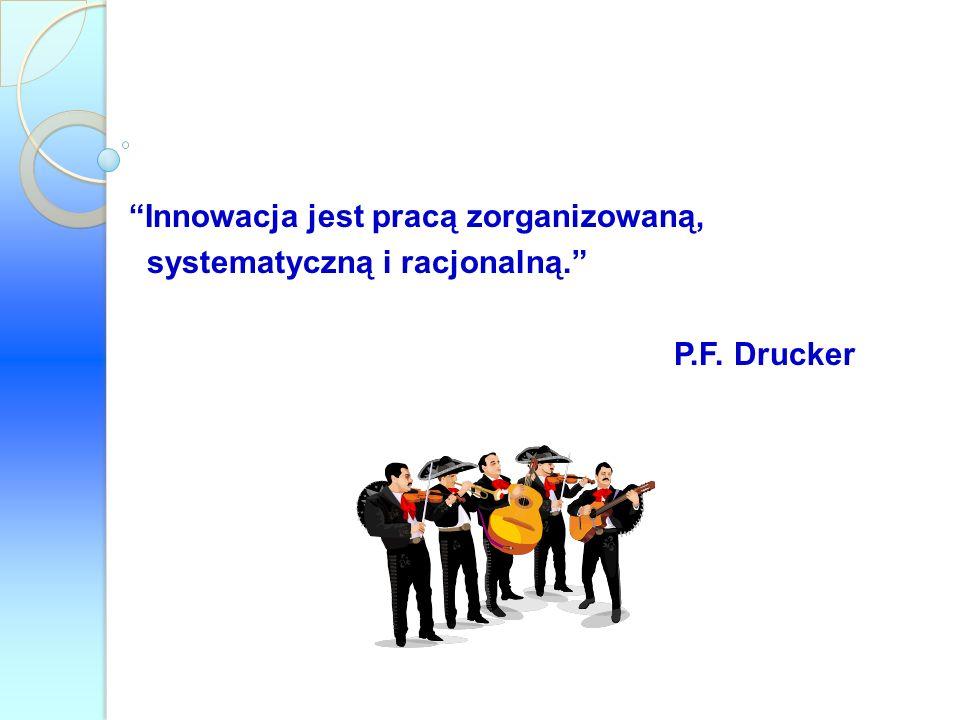 Innowacja jest pracą zorganizowaną, systematyczną i racjonalną.