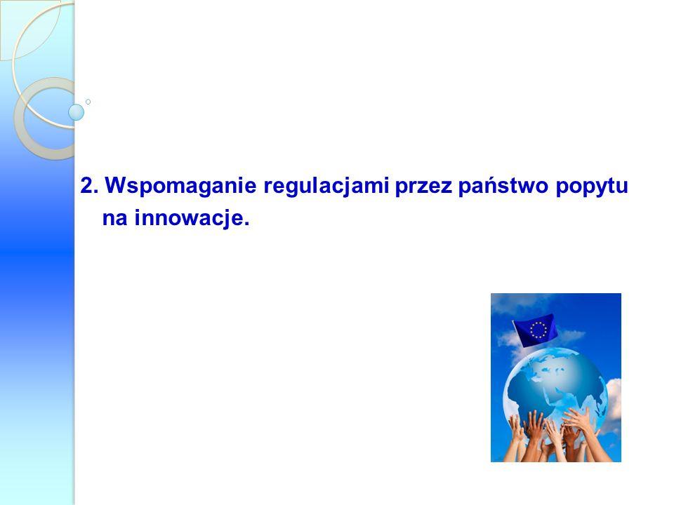 2. Wspomaganie regulacjami przez państwo popytu na innowacje.