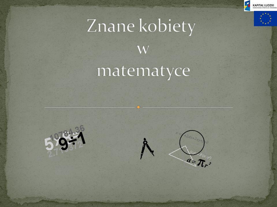 Znane kobiety w matematyce