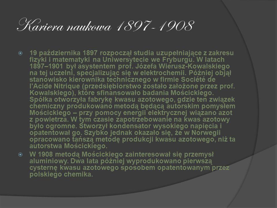 Kariera naukowa 1897-1908
